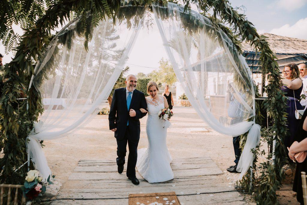 entrada novia finca el lago