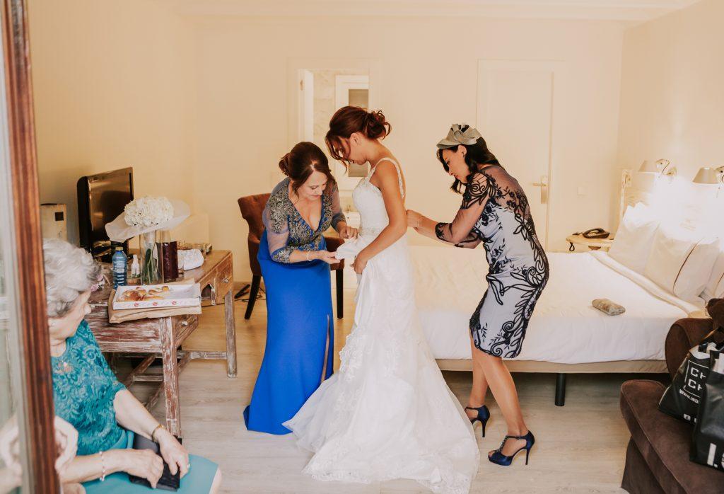 preparativos novia hotel huerto del cura elche