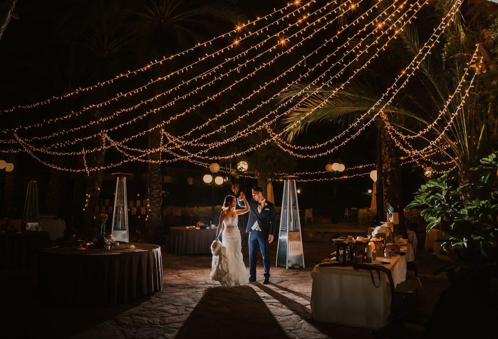 iluminación boda hotel huerto del cura