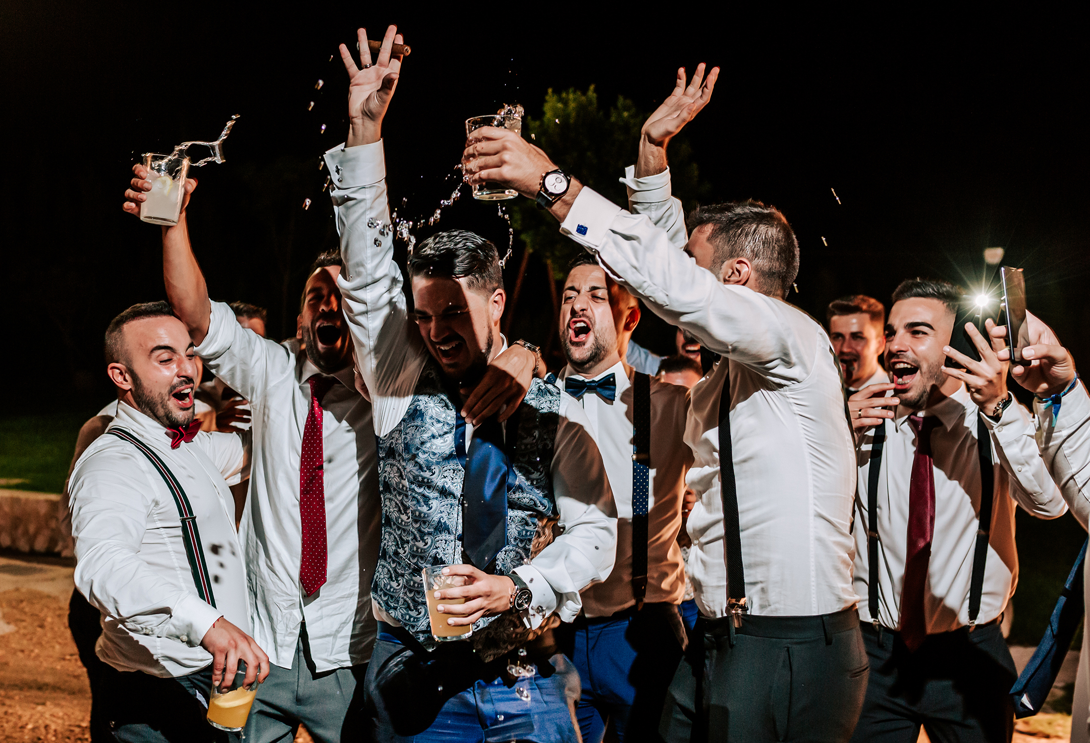 fiesta barra libre boda en bodega heretat de cesilia novelda