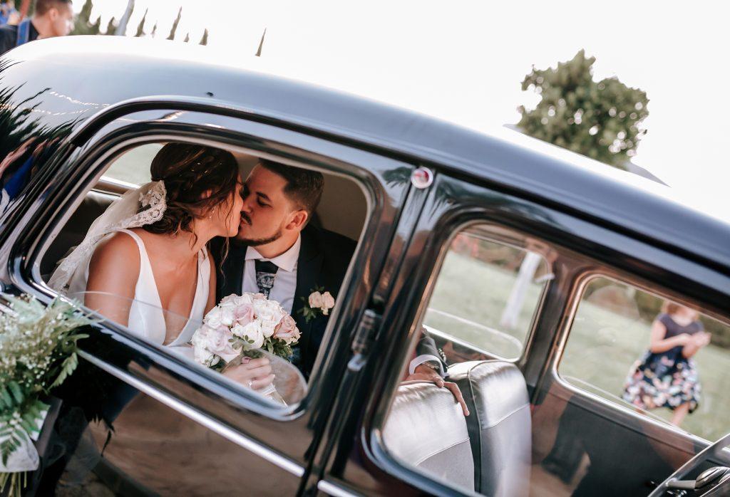 coche clásico de boda