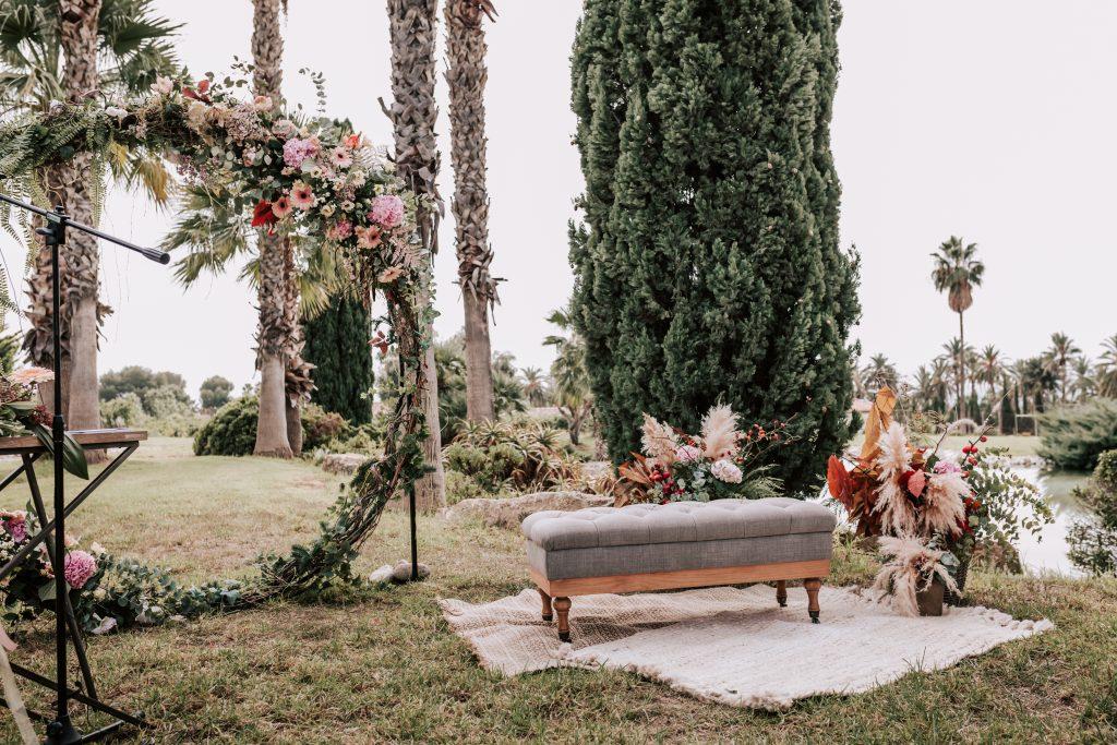 decoración boda en la hacienda de novelda