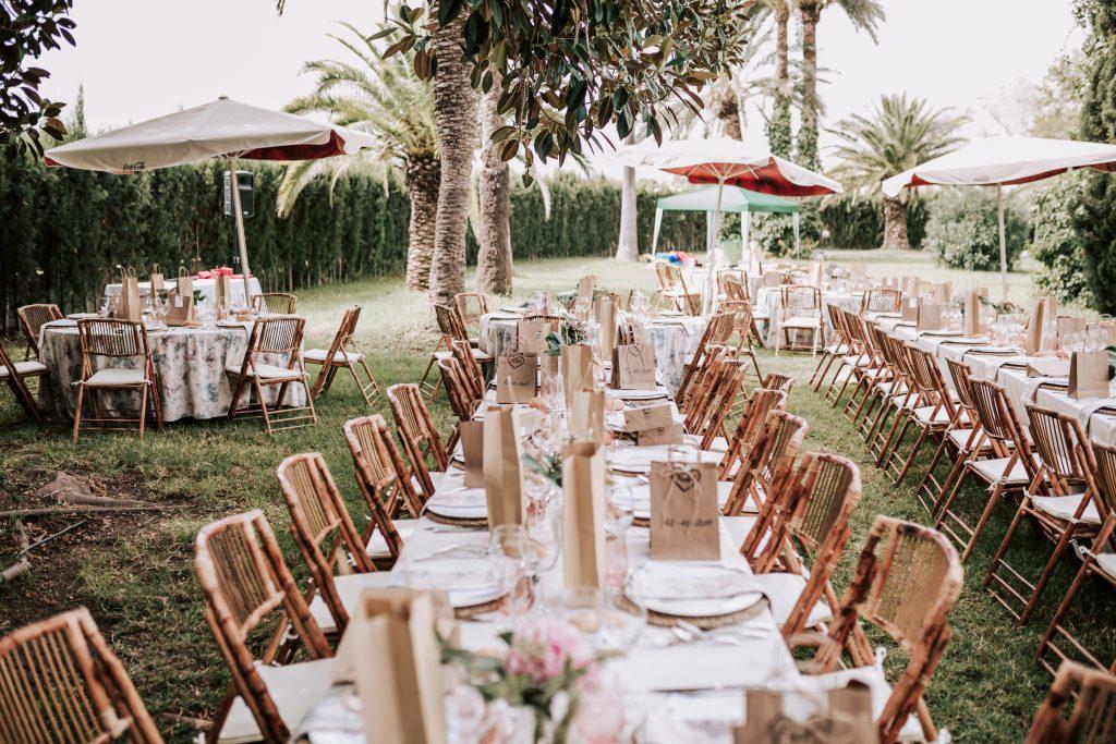 cambio de mobiliario enla boda de novelda