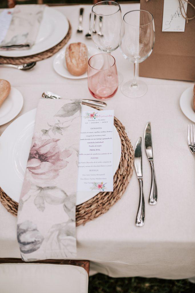 cambio de cubiertos en la boda de la hacienda de novelda